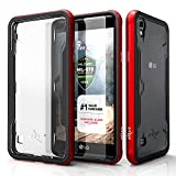 LG Tribute HD Case, Zizo [Shock Series] w/[LG Tribute HD Screen Protector] Clear [Military Grade Tested] Metal Bumper LG Tribute HD LS676 / LG X Style