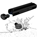 IVANTE Ceppekyy TWS【True Wireless Earbuds】 Bluetooth 5.0 in-Ear Earphones with Charging Case, IPX7 Waterproof Headphones, Headsets Built-in Mic Premium Stereo Sound with Deep Bass for Sports
