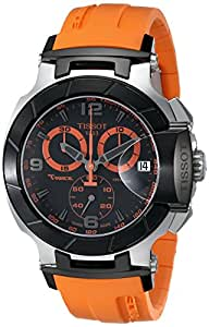 Tissot Men's T0484172705704 T-Race Two-Tone Stainless Steel Watch with Orange Rubber Band