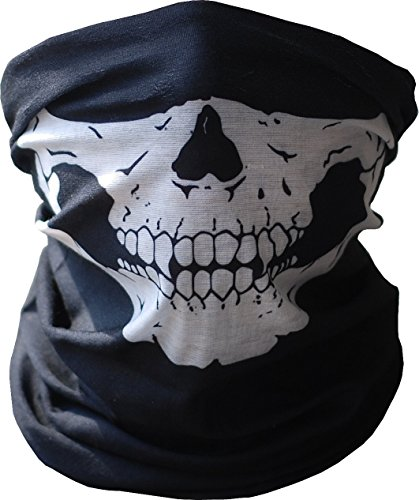 For The Face Buff (Diageng B00H5XNWJG  Black Seamless Skull Face Tube Mask BUFF-Thin)