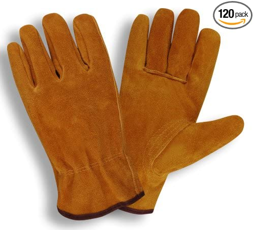 Pack of 120 PR , Cordova Safety Products 7810SC Select Split Leather Driver Gloves