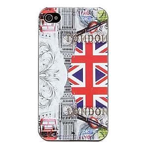 GONGXI-Bandera del Reino Unido patrón duro para el iPhone 4 y 4S