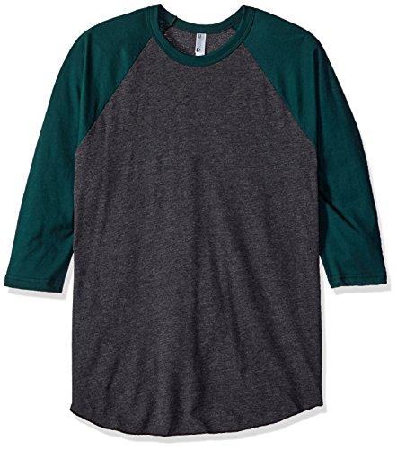 american-apparel-mens-poly-cotton-3-4-sleeve-raglan-shirt-heather-black-forest-x-small