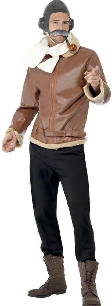 Disfraz Piloto Avión 2ª Guerra Mundial para Hombre talla M: Amazon ...