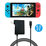 AC Adapter for Nintendo Switch - FYOUNG Charger for Nintendo Switch with 6.5FT Charger Cord - Support Switch Pro Controller (Not for TV Mode)