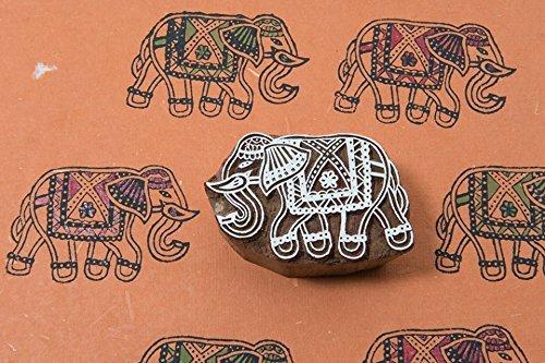 Blockwallah Exotic Elephant Wooden Block Stamp
