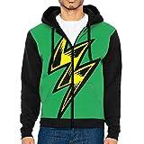 Lighting Bolt Men's Cool Sweater,Long Sleeve Zipper Hoodie For Men