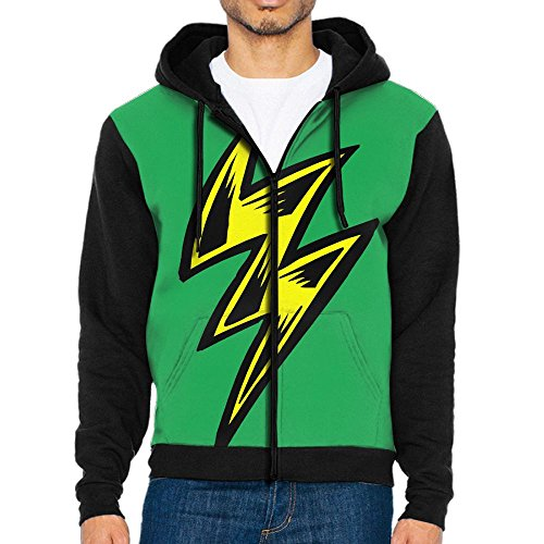 Lighting Bolt Men's Cool Sweater,Long Sleeve Zipper Hoodie For Men by NewXG09