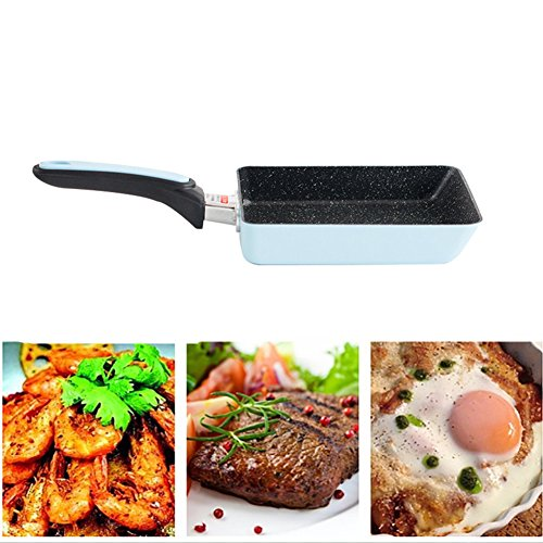 Square Frying Pan ,CLEVER BEAR Pans Non-Stick Grill Pans Non-Smoke Pan Cooking Accessories for Gas & Induction Cooker Kitchen Helper