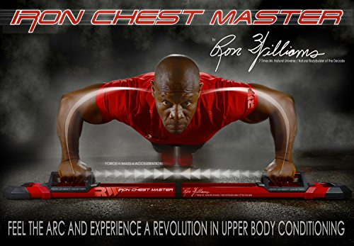 The Perfect Workout System Iron Chest Master By Ron Williams Best Pushup Equipment for Resistance Training & Muscle Building Includes Workout Programs, Bands, Nutrition Guide