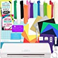 Silhouette CAMEO 3 Bluetooth Starter Bundle with 12 Oracal, 651 Sheets and 12 Siser Easyweed Heat Transfer Sheets by Silhouette America