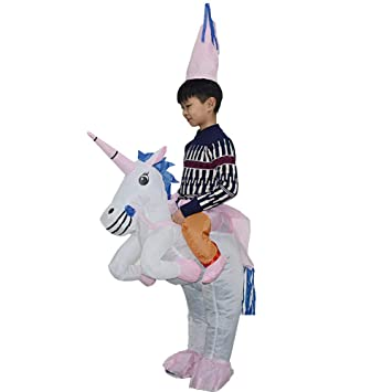 Zhanghaidong Inflables Unicorn Princess Halloween Fancy Dress Blow Up Party Disfraz De Cosplay Inflable Unicorn Rider