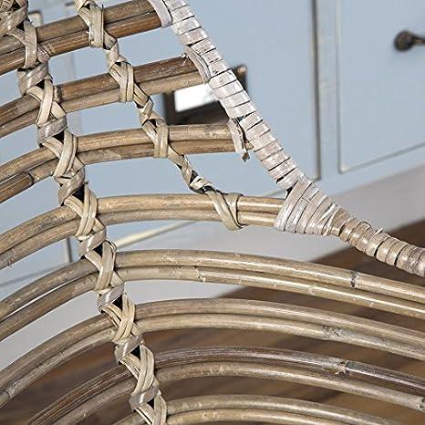 BANAK Sillón de ratán Gris oriass - Madera - 58 x 63 x 85 cm ...