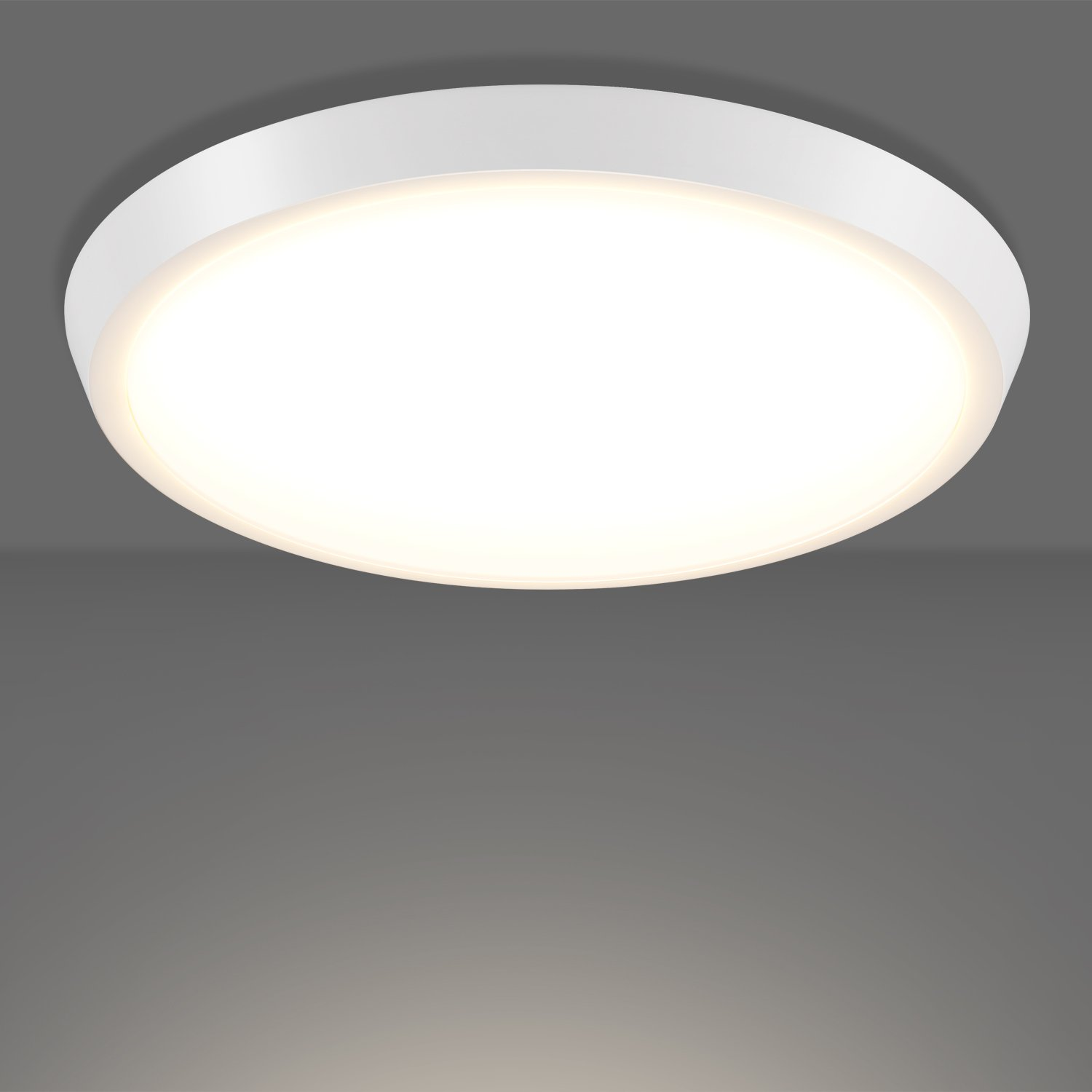 GetInLight 7 Inch Flush Mount LED Ceiling Light with ETL Listed, Soft White 3000K, Matte White Finish, IN-0302-2-WH - - Amazon.com