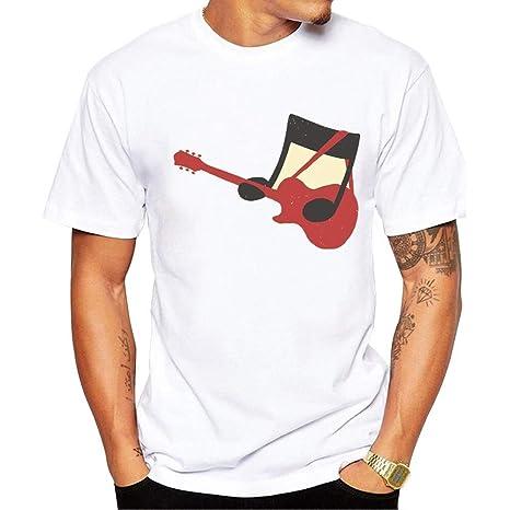 Yizhu Camiseta for Hombre Camiseta Estampada de Moda Notas de ...