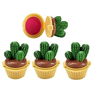 Potted Cactus Miniature Lip Balm Assorted Pack of 4