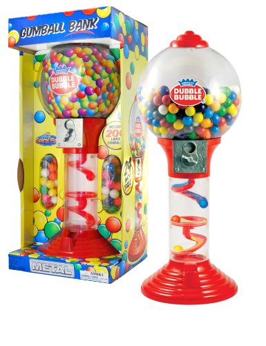 (Sweet N Fun Metal Gumball Bank with Gumballs (200-Piece), 24
