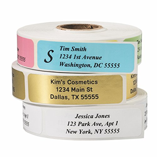 Return Address Labels - Roll of 500 Personalized Labels (White) (Customized Return Address Labels)