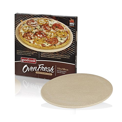 Good Cook ovenfresh gres parrilla para barbacoa y horno piedra para pizza, 14.75', color blanco