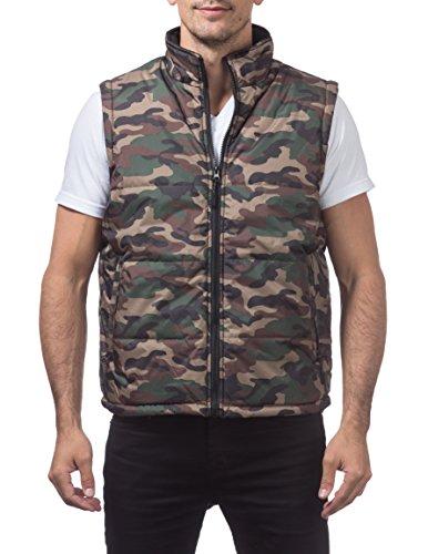 (Pro Club Men's Heavy Padding Vest, Large, Green)