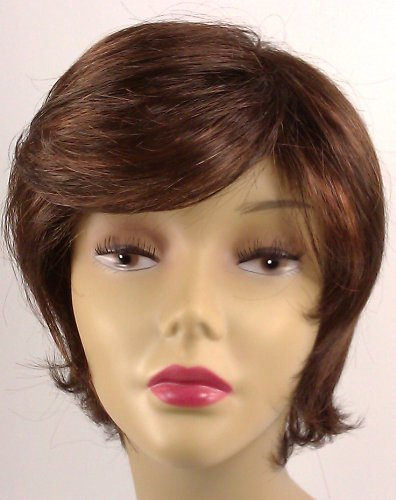 Short Dark Brown Wig – Quality Kanekalon Synthetic Hair Loss Replacement Natural Looking Fashion for (Beverly Johnson Synthetic Wig)