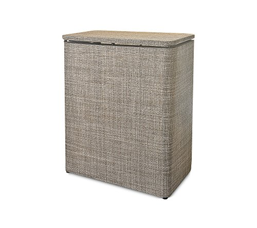 "LaMont Home Brooklyn Textilene Upright Hamper - Warm chocolate Upright: 23.25""H x 19""W x 10.75""L Hinged lid - laundry-room, hampers-baskets, entryway-laundry-room - 51VmODic2YL -"