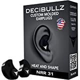 Decibullz PLG1BLK 31dB Custom Molded Earplugs