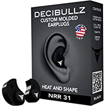 Decibullz - Custom Molded Earplugs, 31dB Highest NRR, Comfortable Hearing Protection for Shooting, Travel, Swimming, Work and Concerts