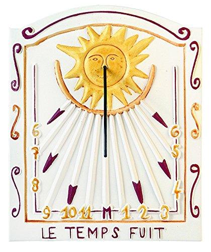 Das Sonnenuhr, Garten Uhr Solar aus Stein gefertigt