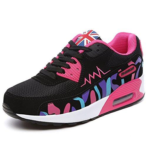 OUOUVALLEY Fashion Platform Shoes Women's Casual Sport Shoe (US5.5(CN37=235CM), Rose)