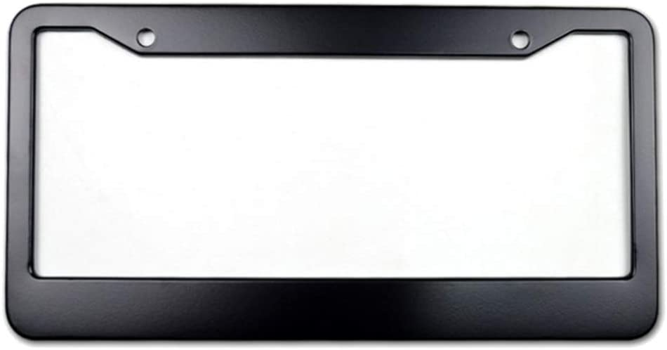 Aluminum Metal Car License Plate Holder with Screws Black US Personalized License Plate Frame
