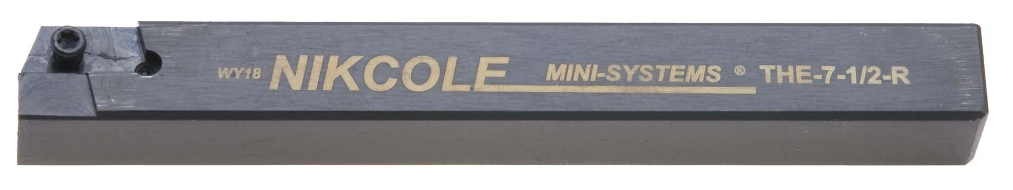 Nikcole THE-7-1/2-R .500'' Sq. RH Mini-System Tool Holder