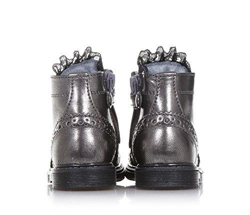 Liu Jo Grauer Stiefel mit Schnürsenkeln Aus Leder, Mädchen