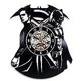 Best Knight Alarm Clocks - GLJF Wall Clock Dark Knight Vinyl Record Classic Review