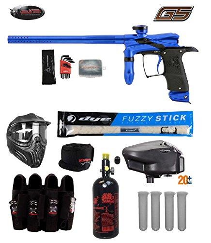 - Dangerous Power G5 Tournament Elite Paintball Gun Package B - Blue/Black