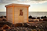 AL timber Ltd Outdoor Wooden Garden Sauna 45mm 2.4mx2.4m
