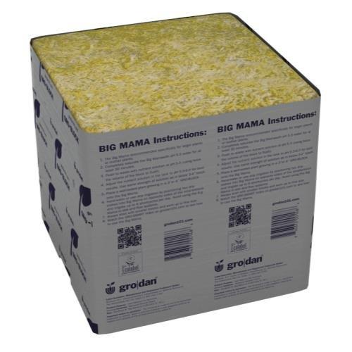 Grodan Stonewool Delta Gro-Blocks & Big Mama Grodan Delta Big Mama Block 8 in x 8 in x 8 in (18/Cs)