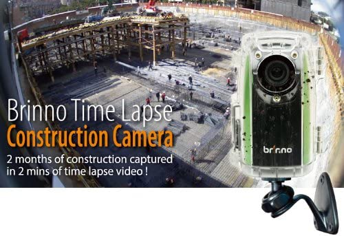 Brinno Construction Time Lapse Camera Bundle BCC100 Wall Power Supply Free 16GB SDHC