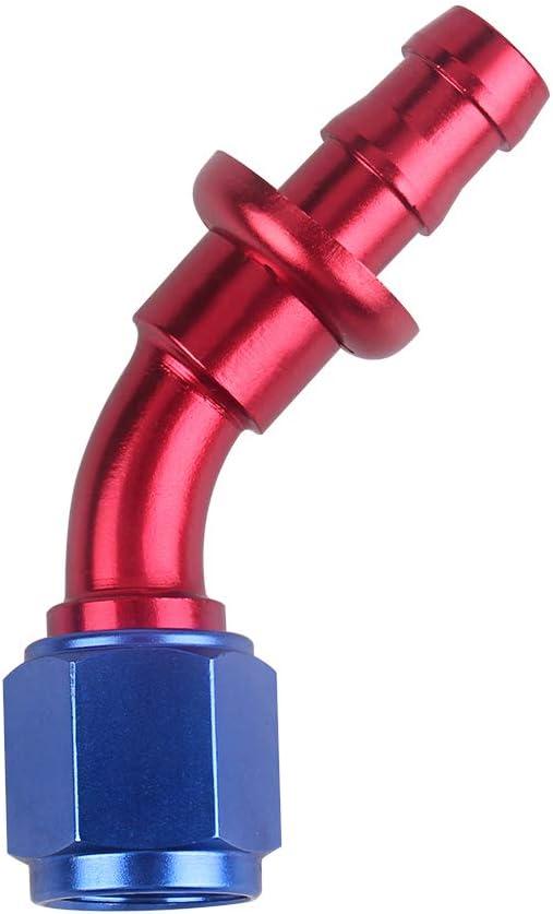 Extr/émit/é de tuyau /à verrouillage /à poussoir AN6 Extr/émit/é de tuyau /à enfiler de 45 degr/és