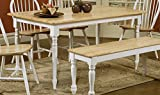 Butcher Block Kitchen Table Coaster Butcher Block Table in Natural / White