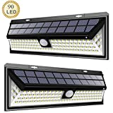 Condoliza Solar wall Lights Outdoor,Motion Sensor Solar Landscape Light, Upgraded Super Bright Waterproof 90LEDs,3 Optional Modes 270° Wide Angle,Easy Install Security Night Lighting for Deck, Front Door, Yard, Steps, Garden Porch, Shed, Walkway, Fence ( 2PACK)