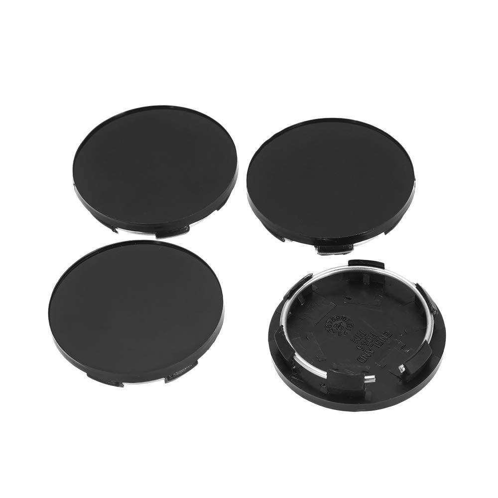 Festnight Universal Wheel Center Hub Caps 60mm Wheel Cap Cover Black