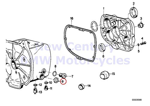 BMW Genuine Motorcycle Gearbox Cover Plug Shaft Seal 26X16X7 R80G/S R80ST R65 R80 R80RT R100R R100R Mystik R100/7T R100/T R100CS R100RS R100RT R100S R60/6 R75/6 R90/6 R90S R60/7 R75/7 R80 R80RT R100RS