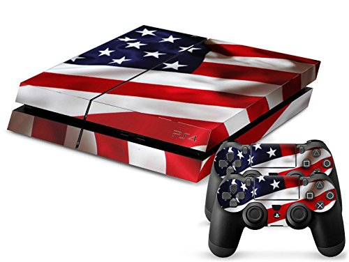 CSBC Skins Sony PS4 Design Foils Faceplate Set - Usa Design