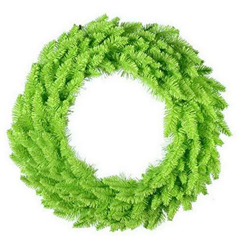 (Mikash 60 in. Lime Green Ashley Spruce Pre-lit Wreath | Model WRTH - 537)