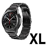 """Gear S3 Frontier / Classic Watch Band, V-Moro XLarge 22mm Solid Stainless Steel Metal Business Replacement Bracelet Strap for Samsung Gear S3 Frontier / S3 Classic Sports Smart Watch 4.92""""-9.25"""""""