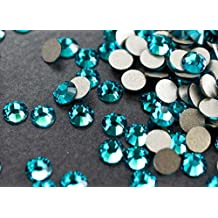 Flat back Crystal 2058 Swarovski Rhinestone No Hotfix Round 229 Blue Zircon SS20 5mm 72 pcs (Blue)