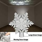 Christmas Tree Topper Star Lighted,3D Glitter