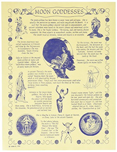 1 X Moon Goddess Poster parchment by Prayer Parchment Posters
