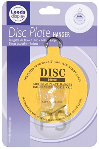 Disc Plate Hanger  Adhesive Invisible 100mm Hanger u0026 Hook  12cm to 30cm 4.5  sc 1 st  Amazon UK & Plate HangerLANMU Adhesive Disc Hanger Stick On Picture Wall ...